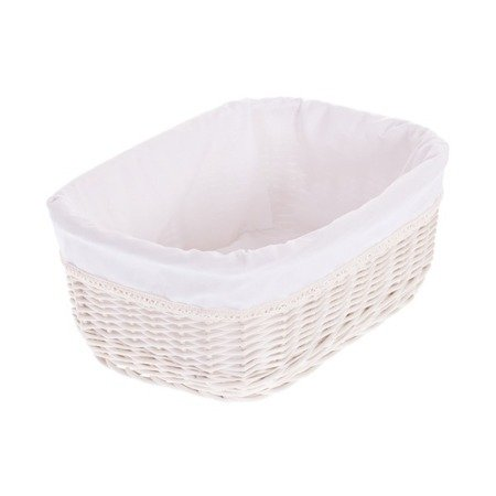 Wicker storage basket