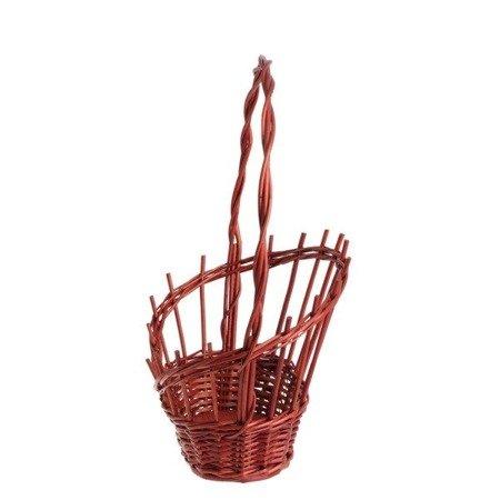 Geschenkkorb aus Weide in Rot
