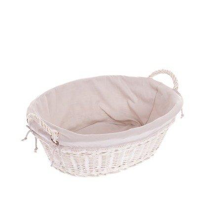 Ovale weiße Weidenschüssel