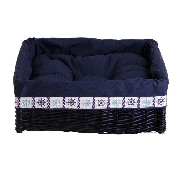 e81671674f2ed1 Granatowe prostokątne legowisko dla psa z poduszką | Kontakt ...