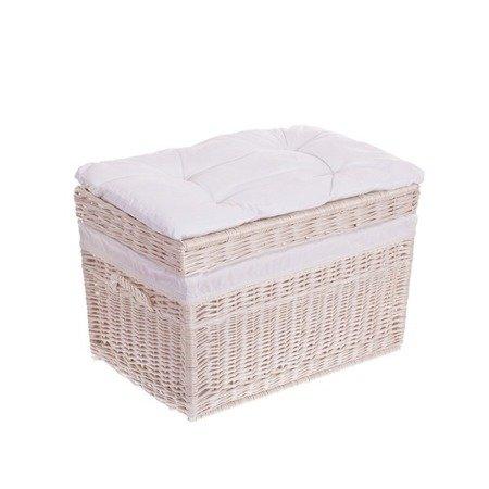 Kufer biały z białym obszyciem 70cm
