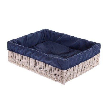 Wiklinowe prostokątne legowisko dla psa z poduszką