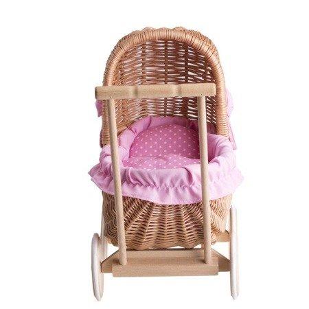 Wiklinowy wózek dla lalek